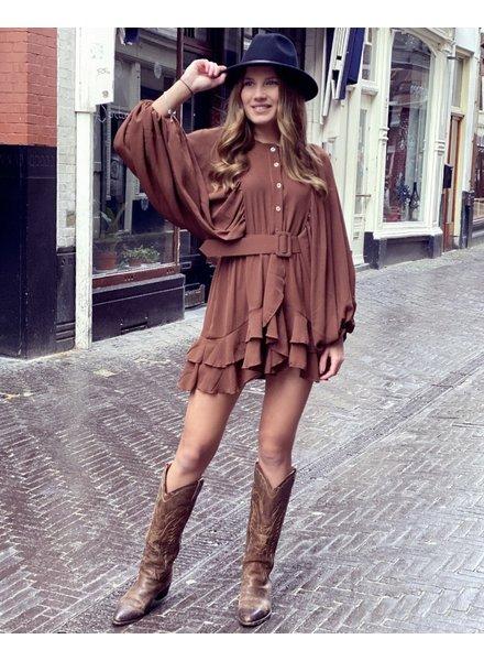 Lily Dress - Brown