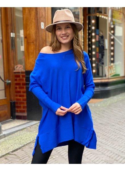 Oversized Sweater - Kobalt