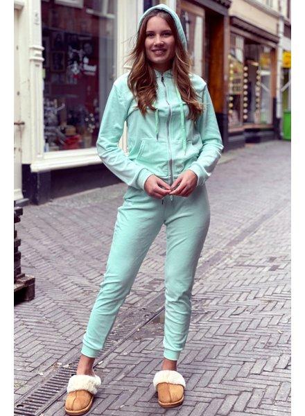 Jill Velvet Suit - Mint