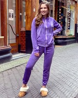 Jill Velvet Suit - Purple