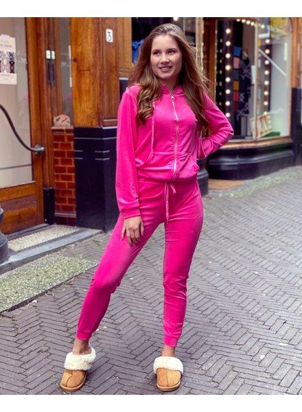 Jill Velvet Suit - Pink