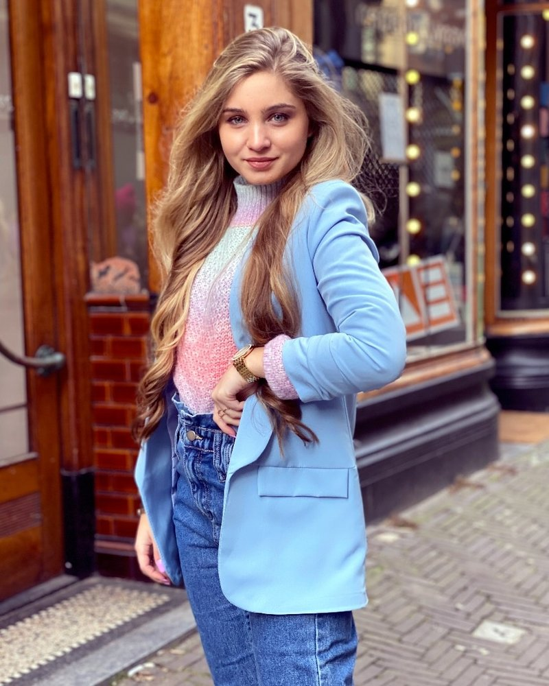 Skylar Blazer - Light Blue