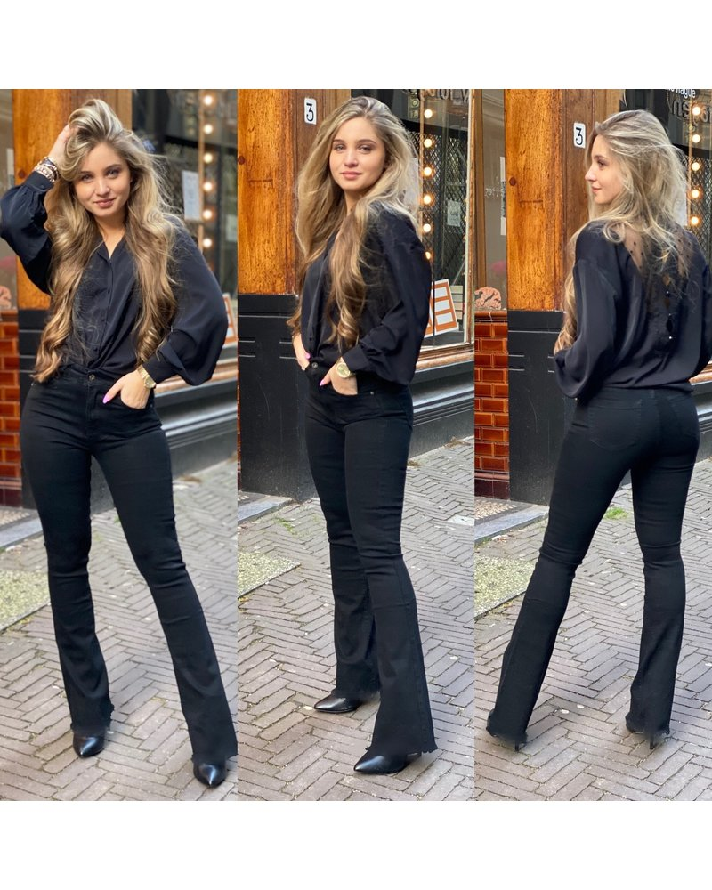Coco Flared Jeans - Black