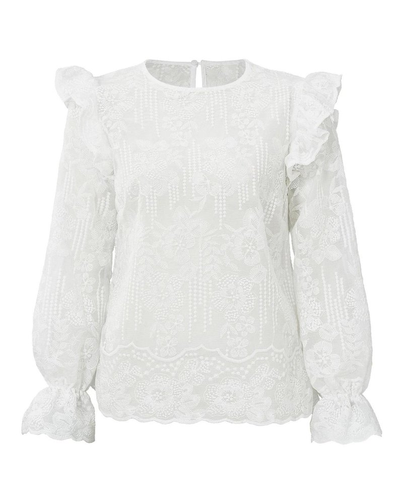 Tess Lace Blouse - White