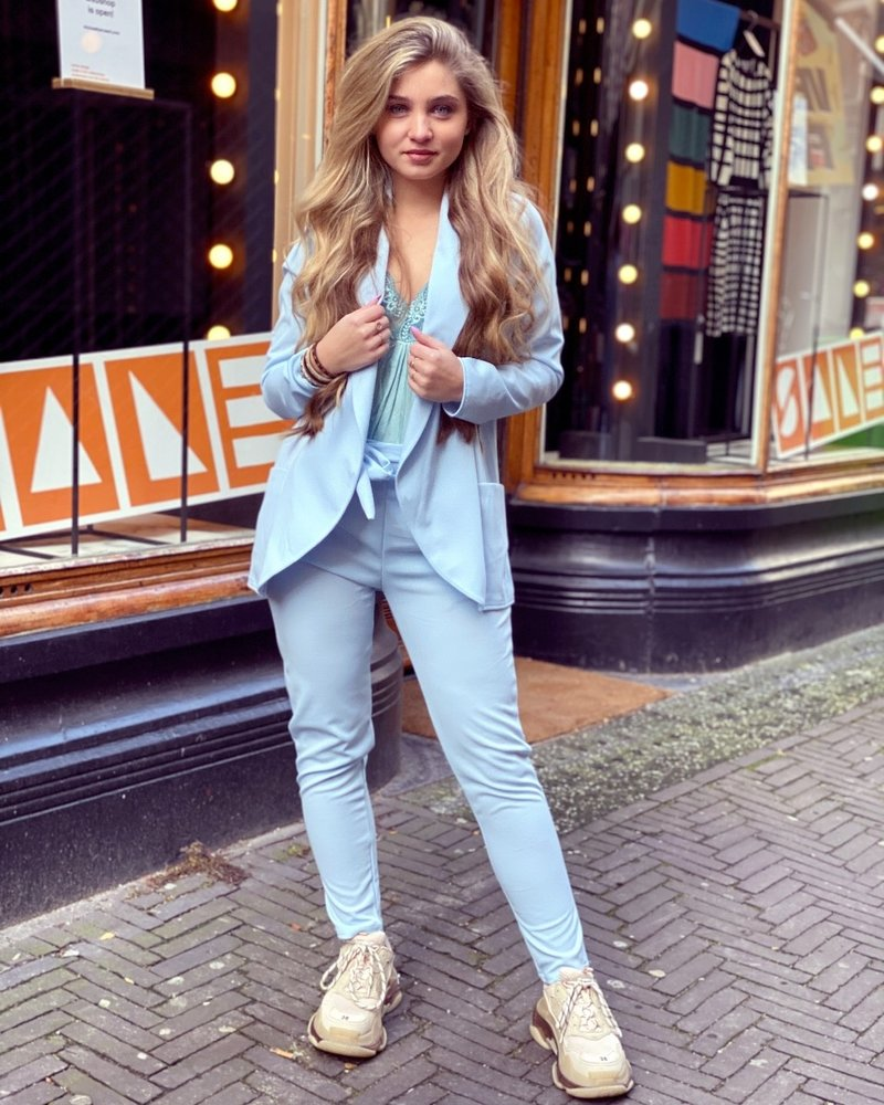 Sara Suit - Light Blue