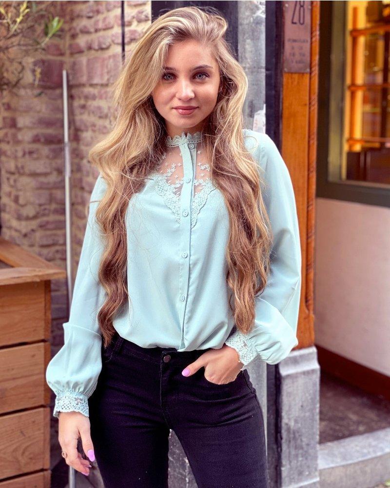 Lauren Lace Blouse - Mint