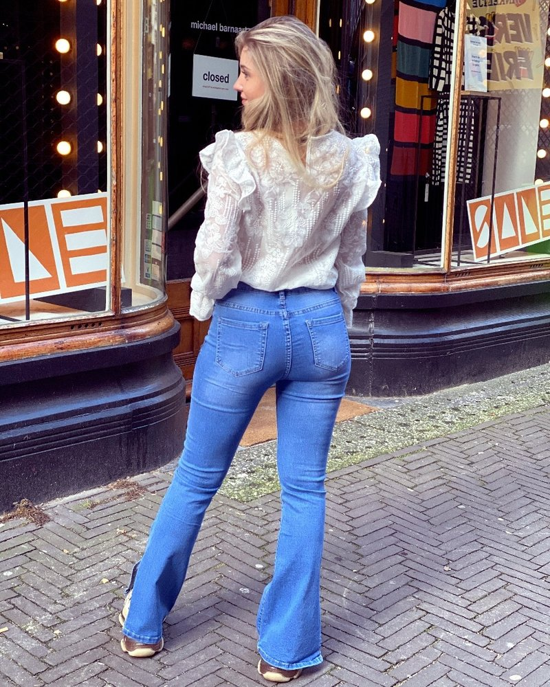 Rosa split Jeans - Denim