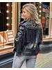 Bowie Fringe Biker Jacket - Black