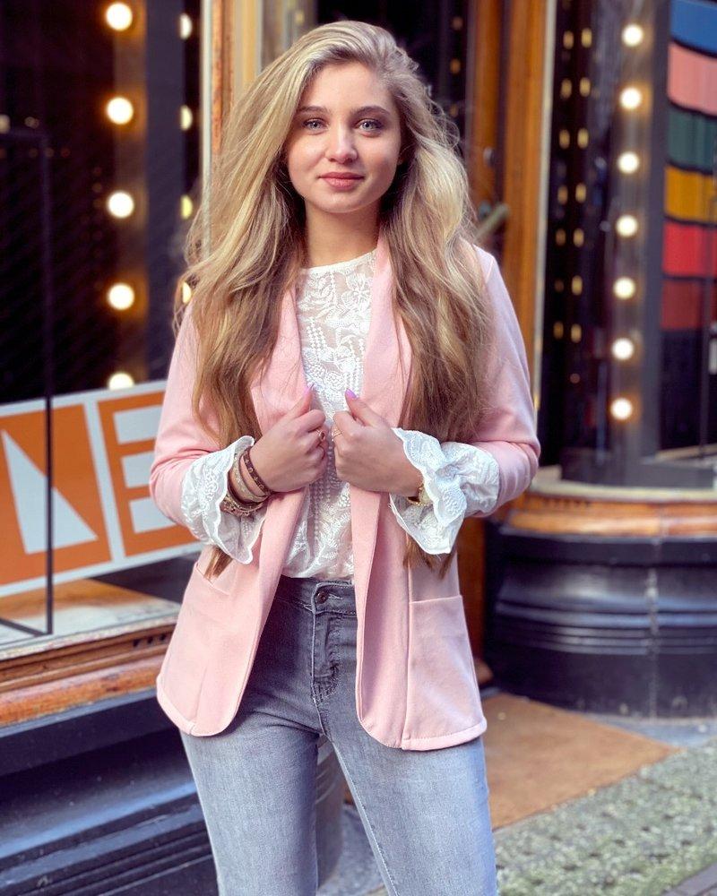Monica Blazer - Light Pink