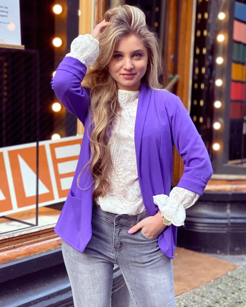 Monica Blazer - Purple