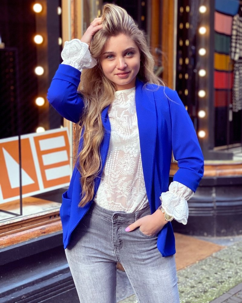 Monica Blazer - Kobalt