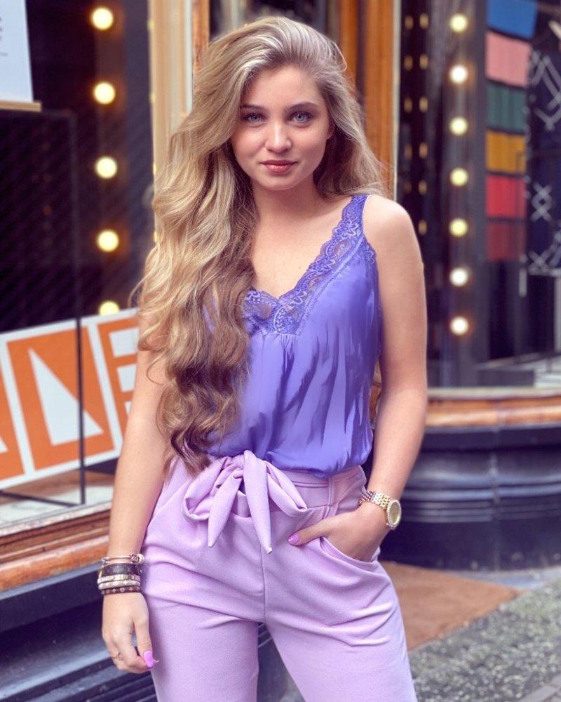 Lynn Lace Top - Purple