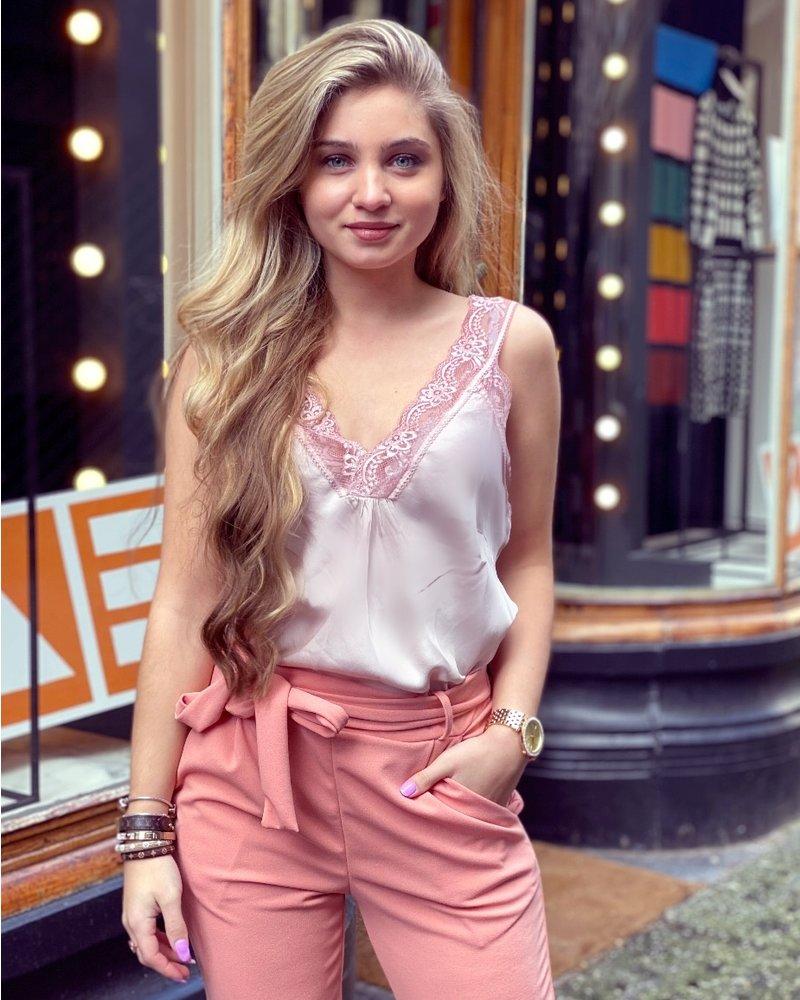 Lynn Lace Top - Light Pink
