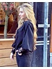 Liz Ruffle Lace Blouse - Black