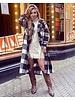 Chloe Checkered Coat - Black