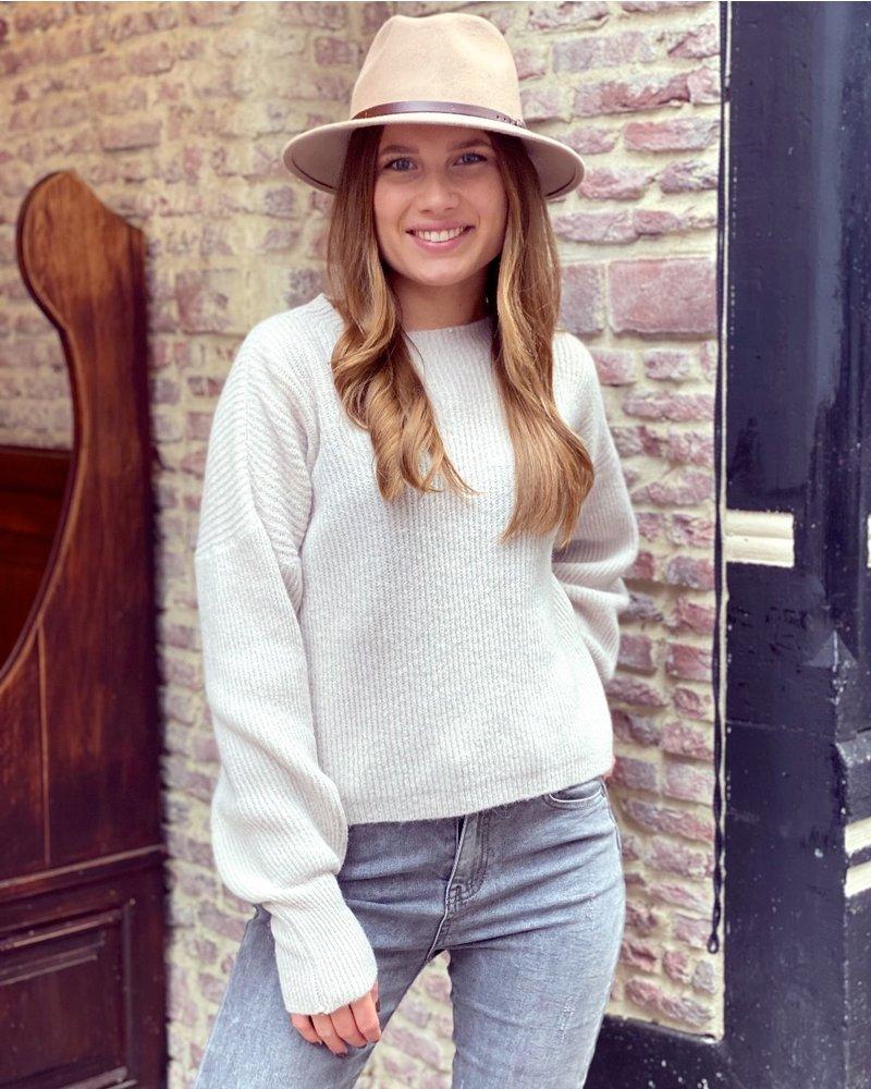 Lena Balloon Sleeve Sweater - Beige