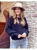 Lena Balloon Sleeve Sweater - Black