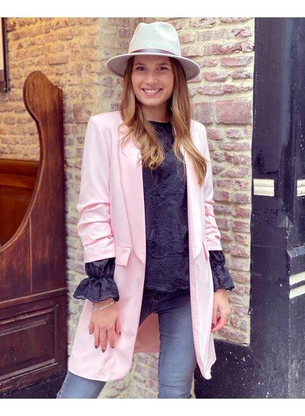 Long Skylar Blazer - Light Pink