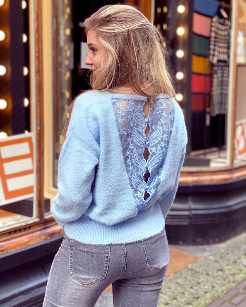 Rosa Lace Sweater - Light Blue