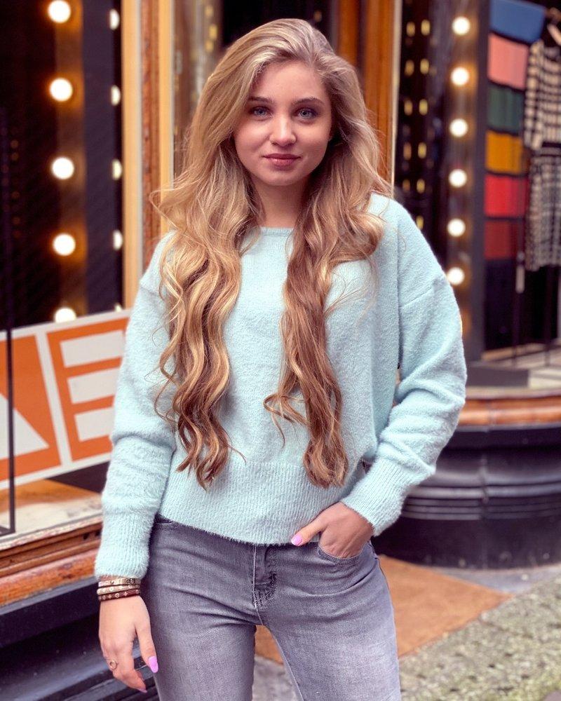 Rosa Lace Sweater - Mint