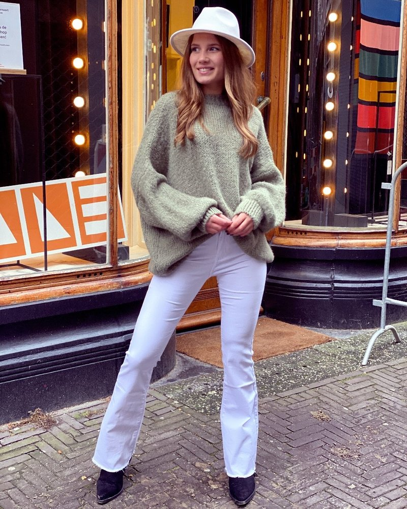 Faya Flared Jeans - White