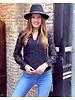 Lilah V Neck Lace Blouse - Black
