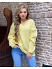 Emma V Neck Sweater - Yellow
