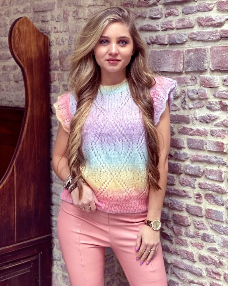 Sleeveless Pastel Sweater