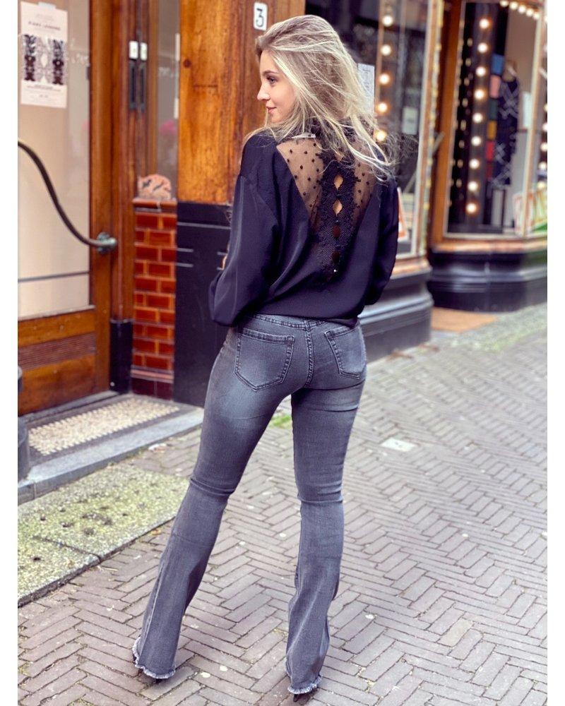 Kiki Flared Jeans - Grey