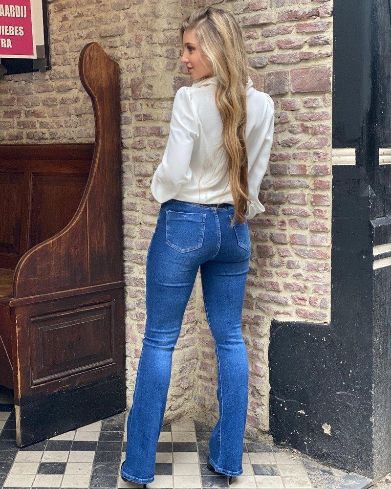 Charlie Flared Jeans - Dark Blue