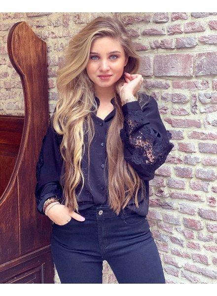 Maya Lace Blouse - Black
