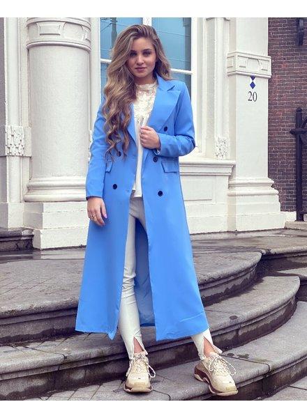 Joanne Long Coat - Light Blue