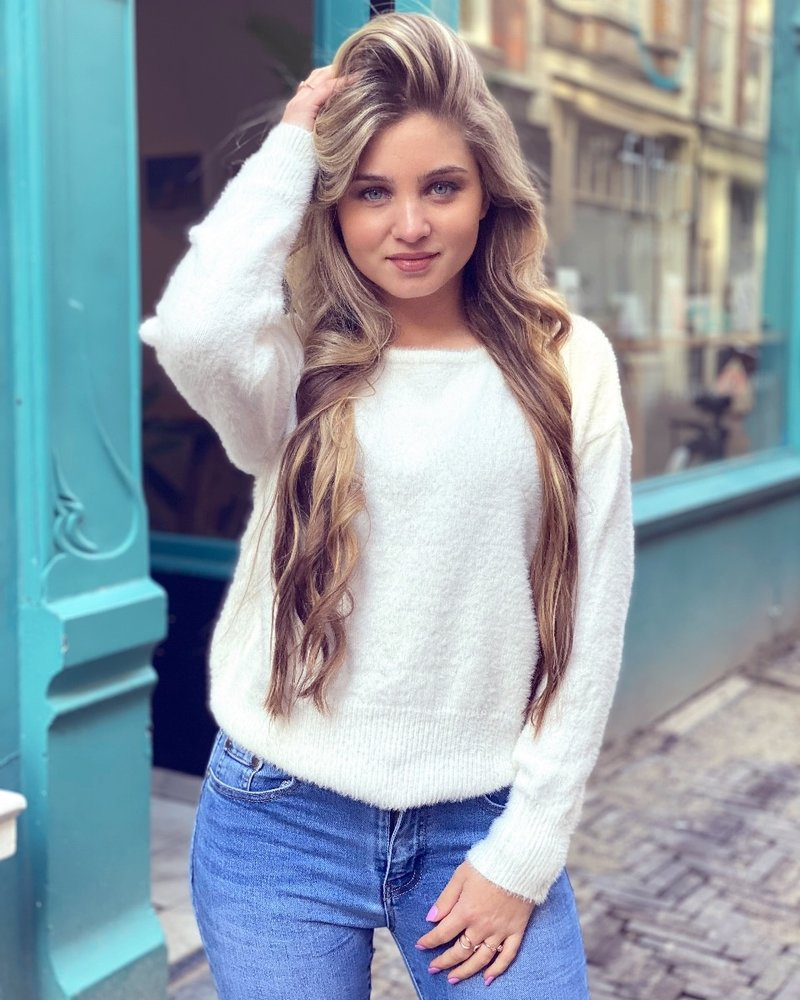 Rosa Lace Sweater - White