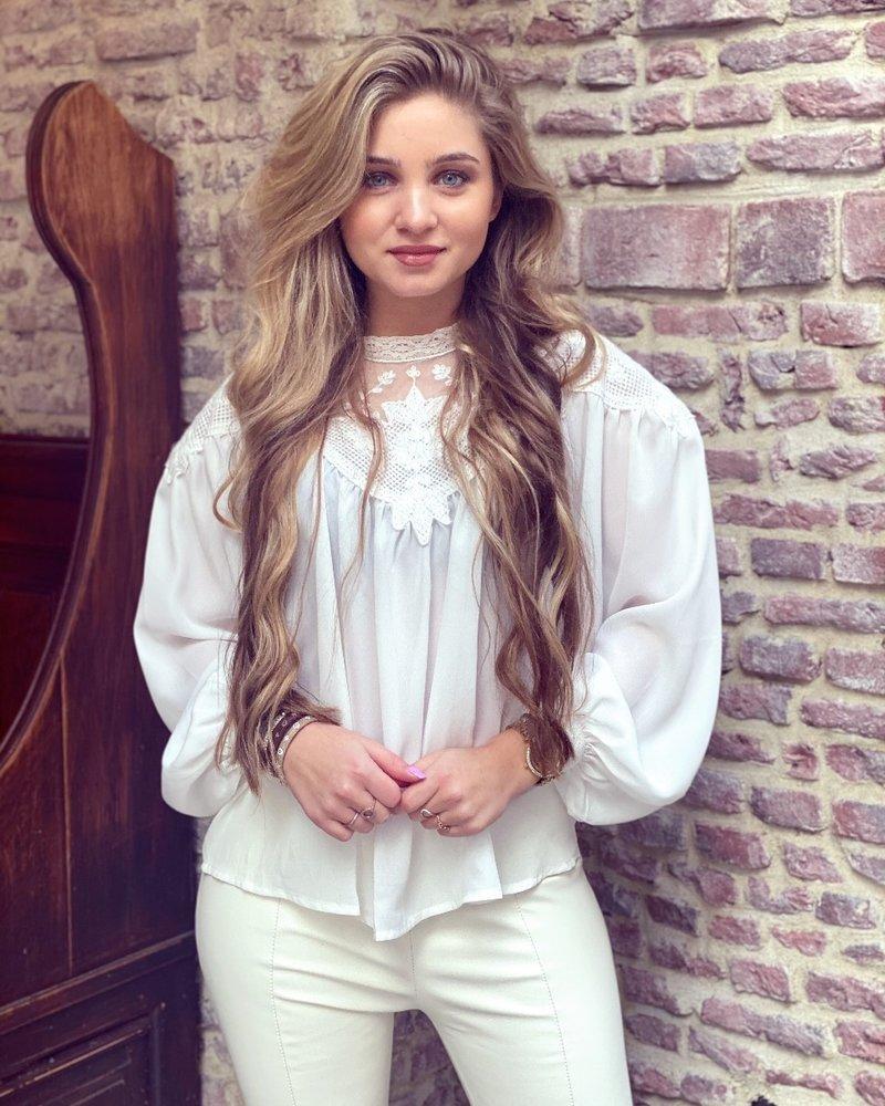 Emilia Lace Blouse - White