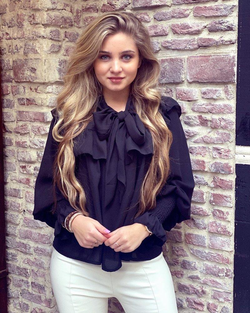 Sophia Strik Blouse - Black