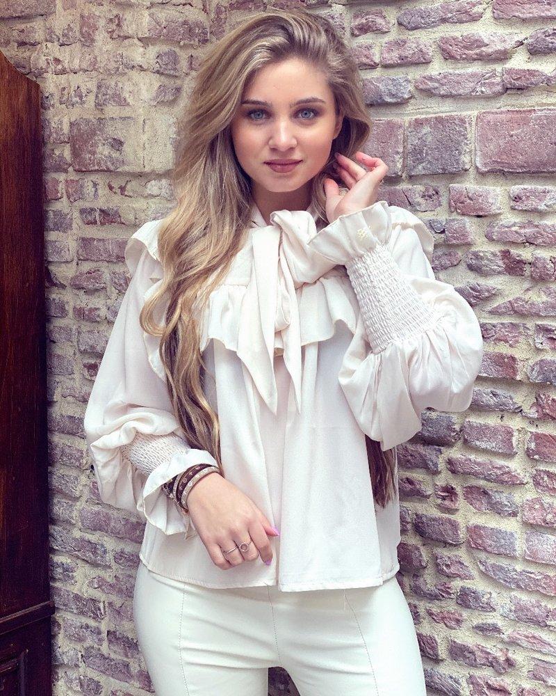 Sophia Strik Blouse - Beige