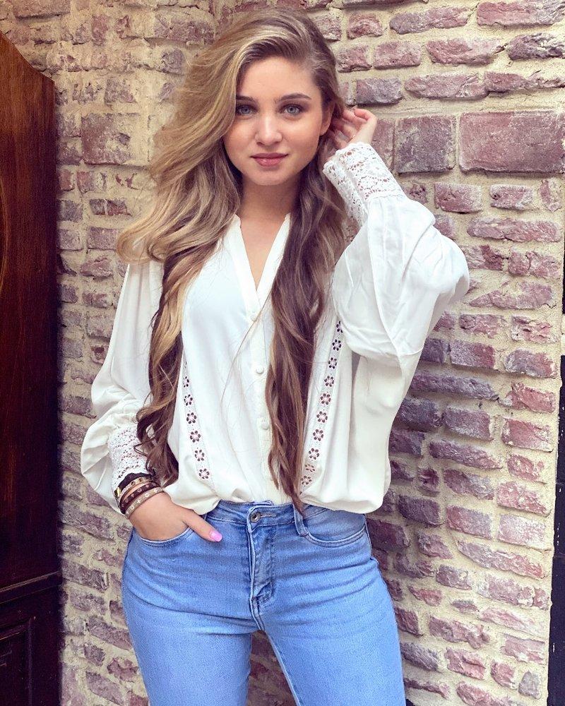 Felicia Lace Blouse - White