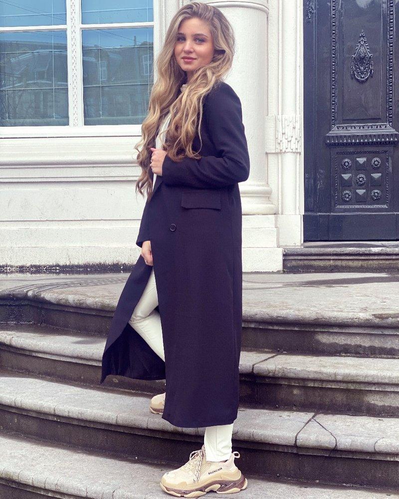 Joanne Long Coat - Black