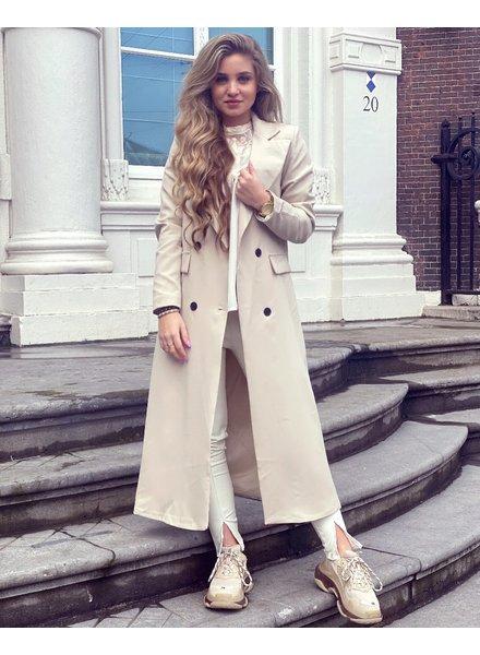 Joanne Long Coat - Beige