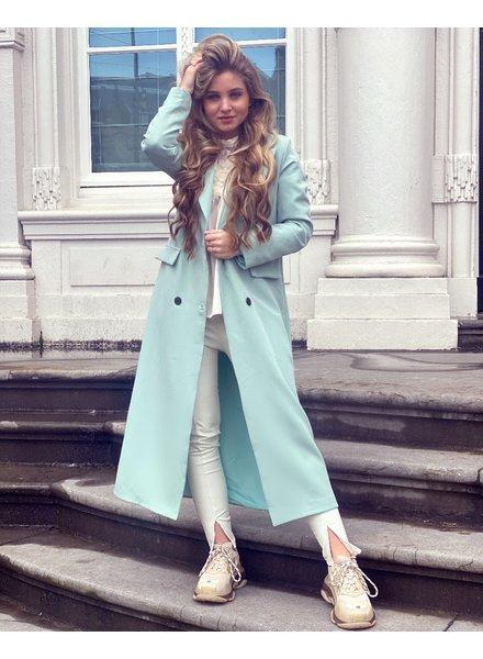 Joanne Long Coat - Mint