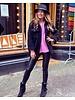 Emily Leather Split Legging - Black