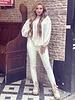 Emily Leather Split Legging - Off White