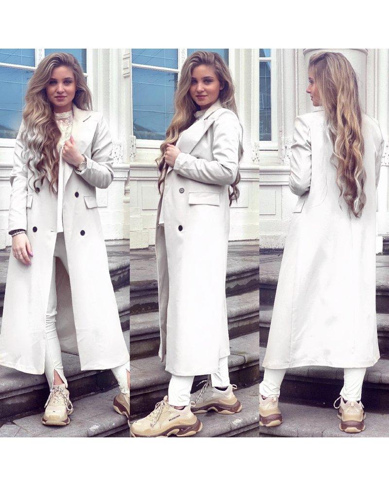 Joanne Long Coat - White