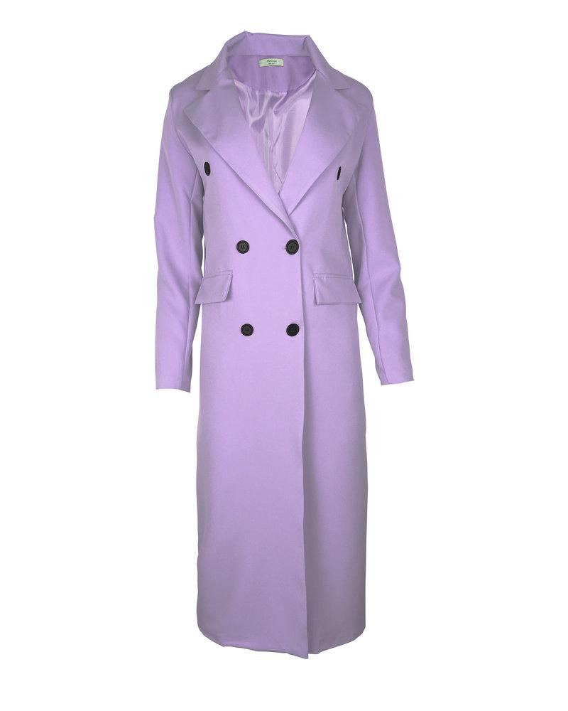 Joanne Long Coat - Lilac