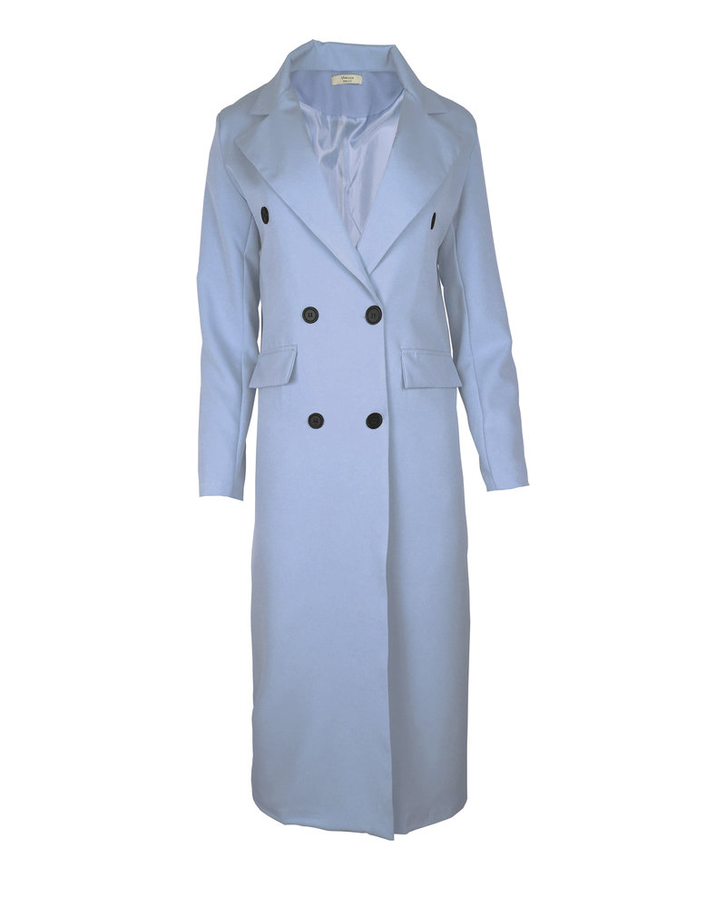 Joanne Long Coat - Light Blue