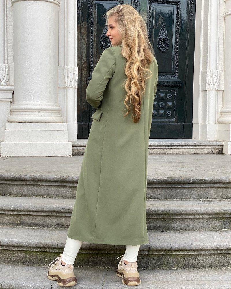 Joanne Long Coat - Army Green