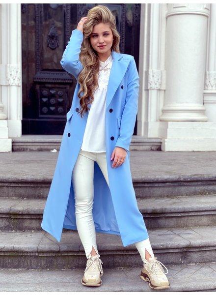 Joanne Long Coat - Baby Blue