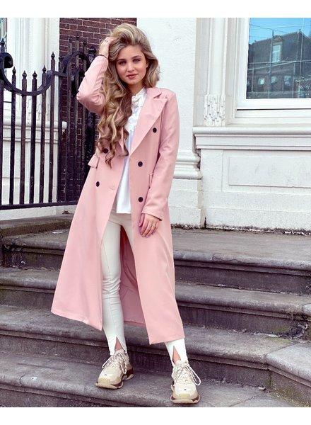 Joanne Long Coat - Light Pink (Pre-Order)