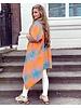 Kate Vest - Orange - Turquoise