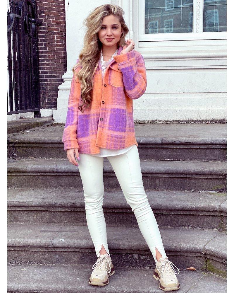 Lexi Coat - Orange Purple